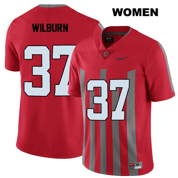 Trayvon Wilburn Nike Womens Red Elite Stitched Ohio State Buckeyes Authentic no. 37 College Football Jersey - Trayvon Wilburn Jersey