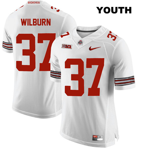 Trayvon Wilburn Stitched Youth White Nike Ohio State Buckeyes Authentic no. 37 College Football Jersey - Trayvon Wilburn Jersey
