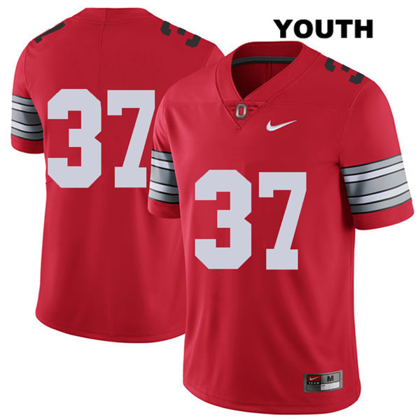 Trayvon Wilburn 2018 Spring Game Stitched Youth Red Nike Ohio State Buckeyes Authentic no. 37 College Football Jersey - Without Name - Trayvon Wilburn Jersey