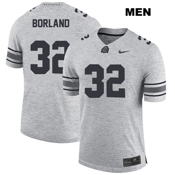 Tuf Borland Stitched Mens Gray Ohio State Buckeyes Nike Authentic no. 32 College Football Jersey - Tuf Borland Jersey