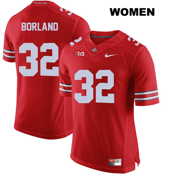 Tuf Borland Womens Red Ohio State Buckeyes Nike Stitched Authentic no. 32 College Football Jersey - Tuf Borland Jersey