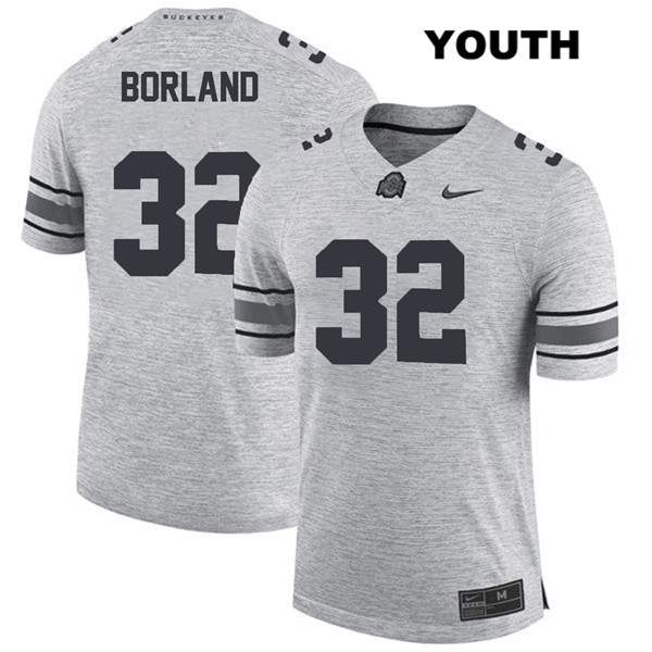 Stitched Tuf Borland Nike Youth Gray Ohio State Buckeyes Authentic no. 32 College Football Jersey - Tuf Borland Jersey