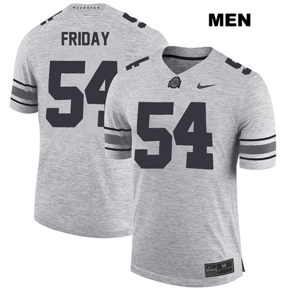 Nike Tyler Friday Mens Gray Ohio State Buckeyes Authentic Stitched no. 54 College Football Jersey - Tyler Friday Jersey