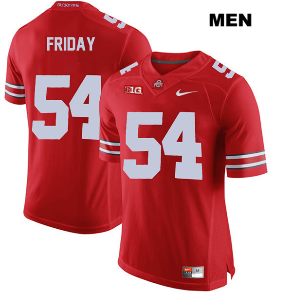 Tyler Friday Nike Mens Red Ohio State Buckeyes Stitched Authentic no. 54 College Football Jersey - Tyler Friday Jersey