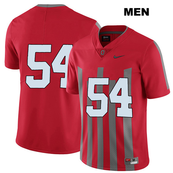 Tyler Friday Mens Red Stitched Nike Ohio State Buckeyes Elite Authentic no. 54 College Football Jersey - Without Name - Tyler Friday Jersey