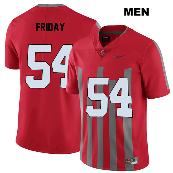 Tyler Friday Mens Elite Red Nike Ohio State Buckeyes Stitched Authentic no. 54 College Football Jersey - Tyler Friday Jersey
