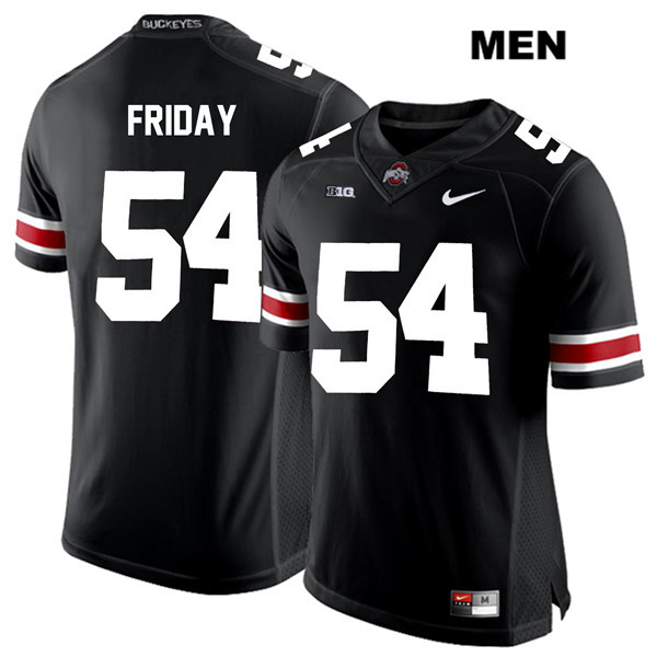Nike Tyler Friday White Font Mens Black Ohio State Buckeyes Authentic Stitched no. 54 College Football Jersey - Tyler Friday Jersey