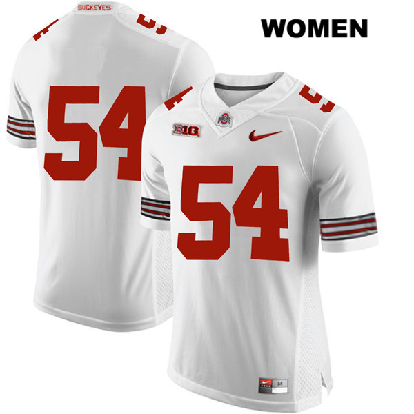 Tyler Friday Nike Womens White Ohio State Buckeyes Stitched Authentic no. 54 College Football Jersey - Without Name - Tyler Friday Jersey