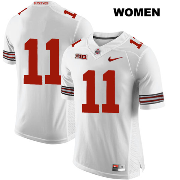 Tyreke Smith Stitched Womens Nike White Ohio State Buckeyes Authentic no. 11 College Football Jersey - Without Name - Tyreke Smith Jersey