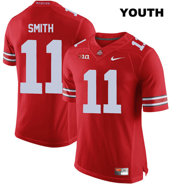 Tyreke Smith Stitched Youth Nike Red Ohio State Buckeyes Authentic no. 11 College Football Jersey - Tyreke Smith Jersey