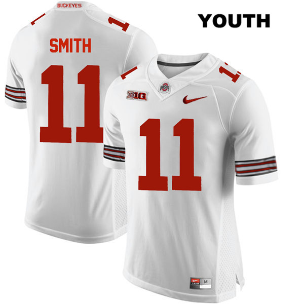 Stitched Tyreke Smith Youth Nike White Ohio State Buckeyes Authentic no. 11 College Football Jersey - Tyreke Smith Jersey