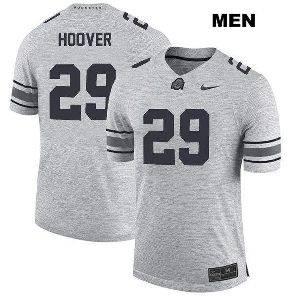 Zach Hoover Mens Nike Gray Ohio State Buckeyes Stitched Authentic no. 29 College Football Jersey - Zach Hoover Jersey