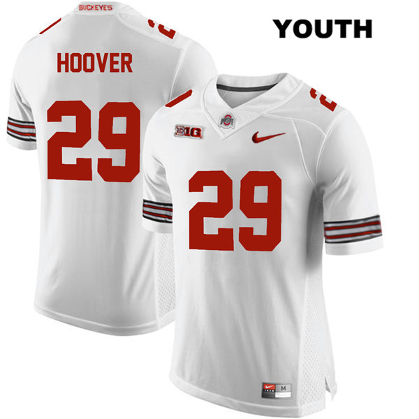 Zach Hoover Stitched Youth Nike White Ohio State Buckeyes Authentic no. 29 College Football Jersey - Zach Hoover Jersey
