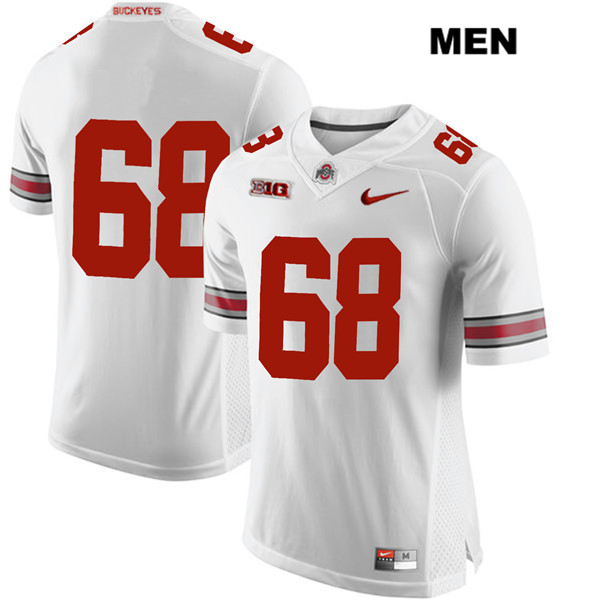 Zaid Hamdan Stitched Mens White Nike Ohio State Buckeyes Authentic no. 68 College Football Jersey - Without Name - Zaid Hamdan Jersey