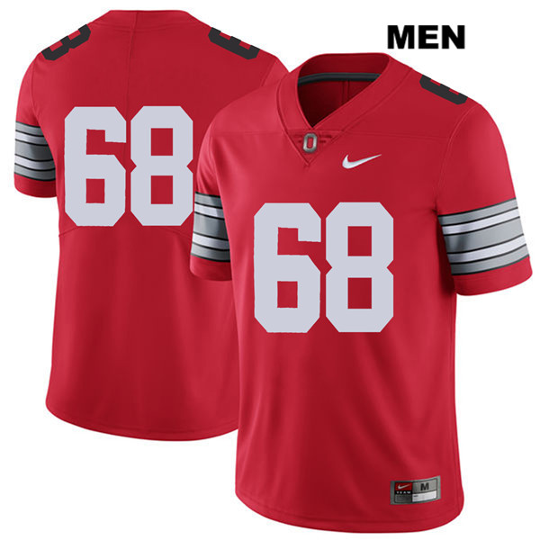 Zaid Hamdan Mens Nike 2018 Spring Game Red Ohio State Buckeyes Stitched Authentic no. 68 College Football Jersey - Without Name - Zaid Hamdan Jersey