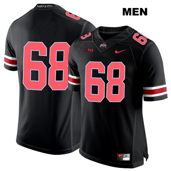 Zaid Hamdan Nike Mens Black Red Font Ohio State Buckeyes Stitched Authentic no. 68 College Football Jersey - Without Name - Zaid Hamdan Jersey