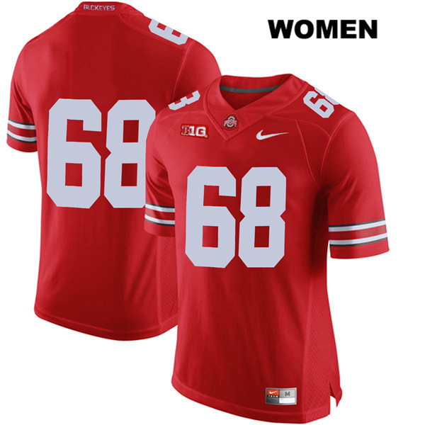 Stitched Zaid Hamdan Womens Red Nike Ohio State Buckeyes Authentic no. 68 College Football Jersey - Without Name - Zaid Hamdan Jersey