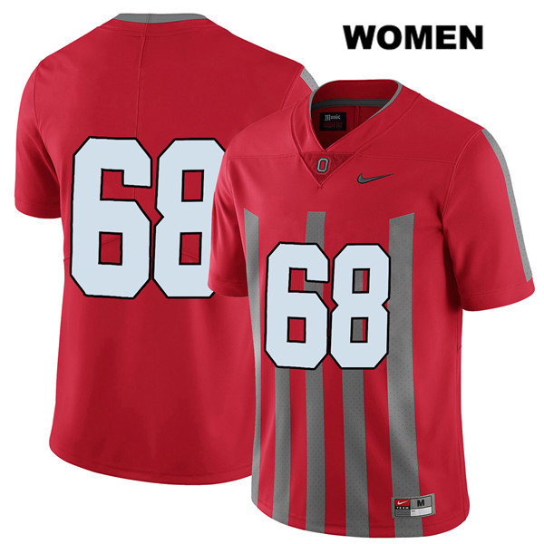 Zaid Hamdan Stitched Womens Nike Red Elite Ohio State Buckeyes Authentic no. 68 College Football Jersey - Without Name - Zaid Hamdan Jersey