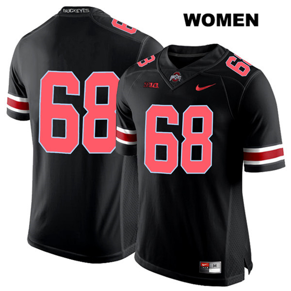 Stitched Zaid Hamdan Womens Black Red Font Nike Ohio State Buckeyes Authentic no. 68 College Football Jersey - Without Name - Zaid Hamdan Jersey