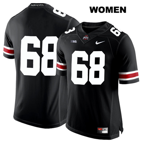 Zaid Hamdan Nike Womens Black Ohio State Buckeyes White Font Authentic Stitched no. 68 College Football Jersey - Without Name - Zaid Hamdan Jersey