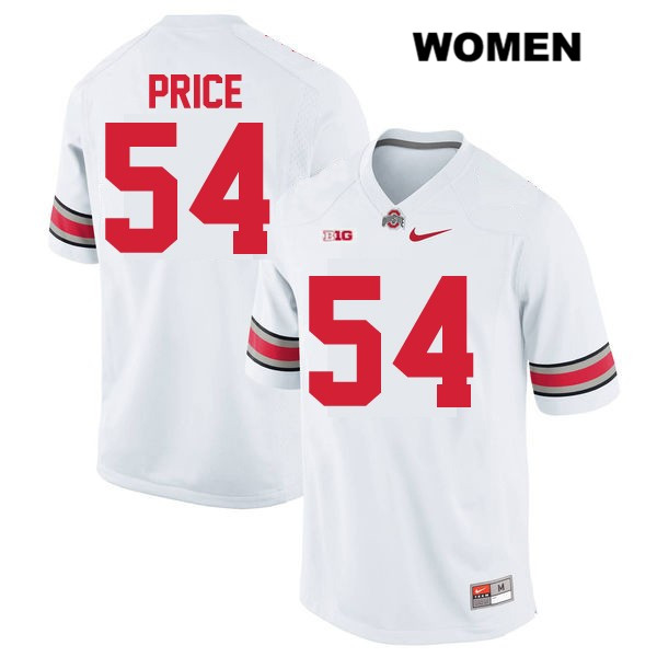 the best attitude 9fbb7 e398e Billy Price Stitched Womens White OSU Nike Ohio State Buckeyes Authentic  no. 54 College Football Jersey