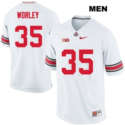 Chris Worley Nike Mens White Stitched Ohio State Buckeyes OSU Authentic no. 35 College Football Jersey - Chris Worley Jersey