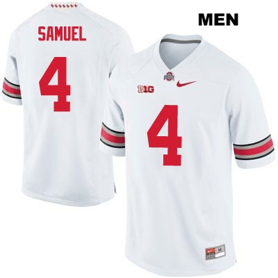 Curtis Samuel Mens Nike White Stitched Ohio State Buckeyes OSU Authentic no. 4 College Football Jersey - Curtis Samuel Jersey