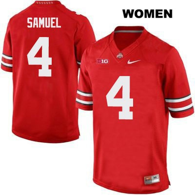 Curtis Samuel Womens Nike Red OSU Ohio State Buckeyes Authentic Stitched no. 4 College Football Jersey - Curtis Samuel Jersey