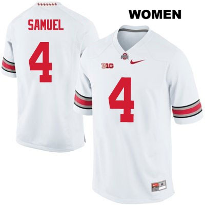 Stitched Curtis Samuel Womens White OSU Ohio State Buckeyes Nike Authentic no. 4 College Football Jersey - Curtis Samuel Jersey