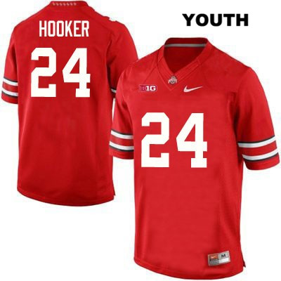 Malik Hooker Nike Youth Stitched Red Ohio State Buckeyes OSU Authentic no. 24 College Football Jersey