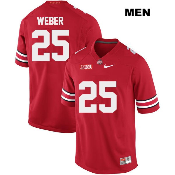 Mike Weber Nike Stitched Mens Red OSU Ohio State Buckeyes Authentic no. 25 College Football Jersey - Mike Weber Jersey