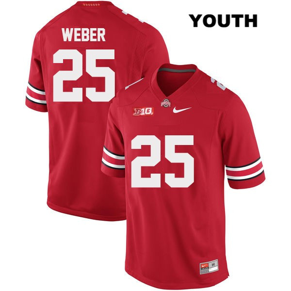 ... Mike Weber Youth Red OSU Ohio State Buckeyes Stitched Nike Authentic  no. 25 College Football ... c91cfec5e