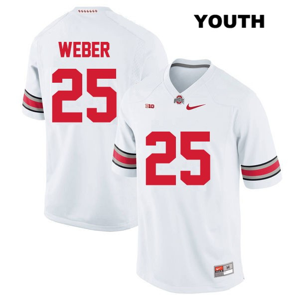 Mike Weber Nike Youth Stitched White Ohio State Buckeyes OSU Authentic no. 25 College Football Jersey - Mike Weber Jersey