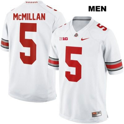 new style eaa28 cd4fc OSU Raekwon McMillan Stitched Mens White Nike Ohio State Buckeyes Authentic  no. 5 College Football Jersey