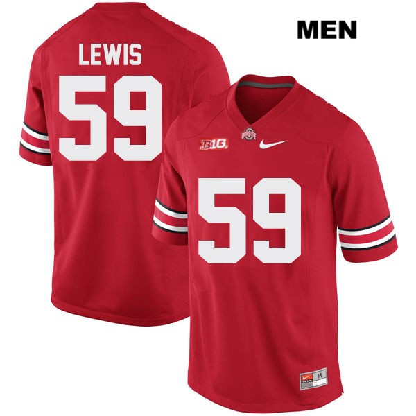 Tyquan Lewis Stitched Mens Red Nike Ohio State Buckeyes OSU Authentic no. 59 College Football Jersey - Tyquan Lewis Jersey