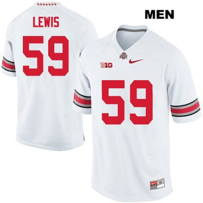 Tyquan Lewis Mens OSU White Ohio State Buckeyes Stitched Authentic Nike no. 59 College Football Jersey - Tyquan Lewis Jersey