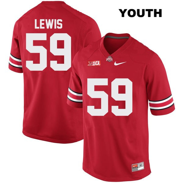 Tyquan Lewis OSU Stitched Youth Red Ohio State Buckeyes Nike Authentic no. 59 College Football Jersey - Tyquan Lewis Jersey