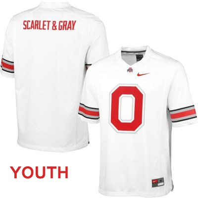 Fashion OSU Youth White Nike Ohio State Buckeyes College Football Blank Jersey - Ohio State Buckeyes Fashion Jersey
