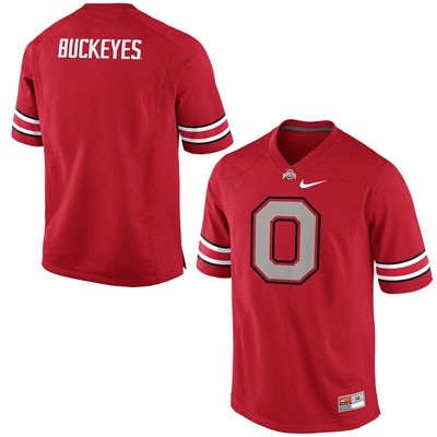 Fashion Mens Red Ohio State Buckeyes College Football OSU Blank Nike Jersey - Ohio State Buckeyes Fashion Jersey