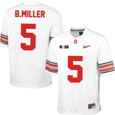 Men's Ohio State Buckeyes #5 Baxton Miller Red College Football Nike Lmited Jersey