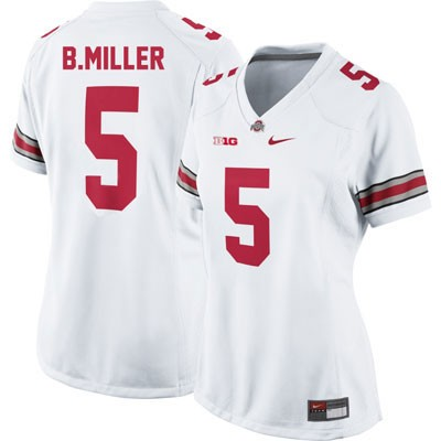 Braxton Miller OSU Youth White Nike Ohio State Buckeyes College Football NO. 5 Jersey