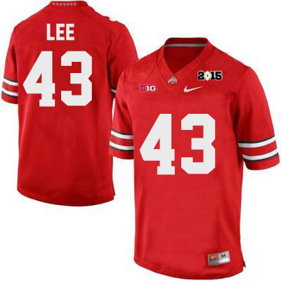 Darron Lee Mens Red Nike 2015 Patch Ohio State Buckeyes College Football NO. 43 OSU Jersey - Darron Lee Jersey