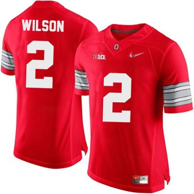 Dontre Wilson Playoffs Mens Nike Red Ohio State Buckeyes OSU College Football NO. 2 Jersey
