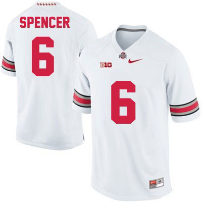 Evan Spencer Mens White OSU Ohio State Buckeyes Nike College Football NO. 6 Jersey - Evan Spencer Jersey