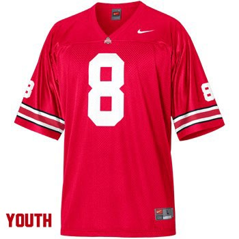 J.T. Moore Youth Red Ohio State Buckeyes OSU College Football Nike NO. 3 Jersey - J.T. Moore Jersey