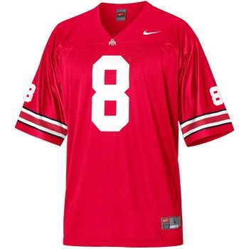 J.T. Moore Mens OSU Red Ohio State Buckeyes College Football NO. 3 Nike Jersey - J.T. Moore Jersey