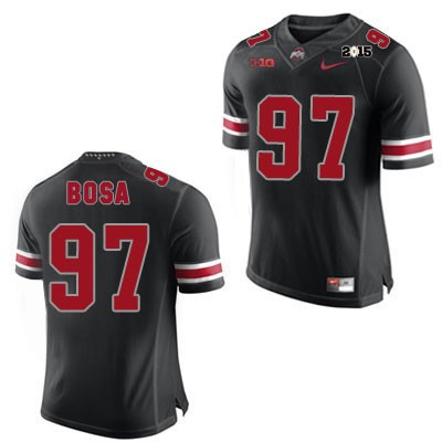 size 40 e4d53 4d556 Joey Bosa Mens Nike Black Ohio State Buckeyes College Football OSU NO. 97  2015 Patch Jersey