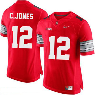 Cardale Jones Mens OSU Diamond Quest Playoff Red Ohio State Buckeyes College Football NO. 12 Nike Jersey - Cardale Jones Jersey
