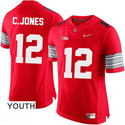 Cardale Jones OSU Youth Red Ohio State Buckeyes Diamond Quest Playoff College Football Nike NO. 12 Jersey - Cardale Jones Jersey