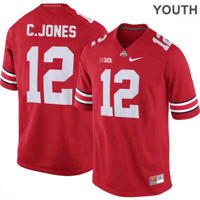 Cardale Jones Youth OSU Red Ohio State Buckeyes Nike College Football NO. 12 Jersey - Cardale Jones Jersey